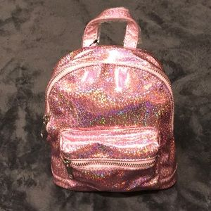 90's Style Pink Sparkle Mini Backpack NWT